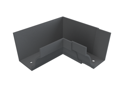 """6""""x4"""" Moulded Ogee Gutter Int 90° Angle"""