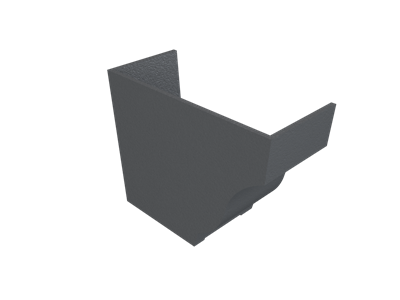 """6""""x4"""" Moulded Ogee Gutter Int Stopend - L/H"""