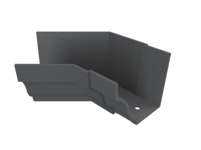 """6""""x4"""" Moulded Ogee Gutter Int 135° Angle"""