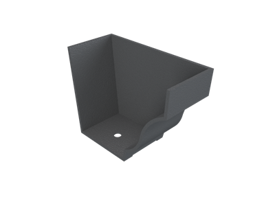 """6""""x4"""" Moulded Ogee Gutter Int Stopend - R/H"""