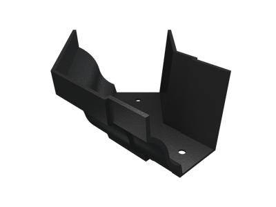 """5""""x4"""" Moulded Ogee Gutter Ext 135° Angle - Black"""