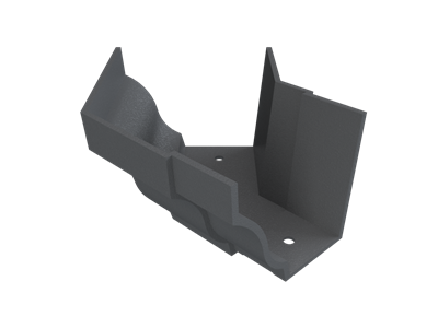 """6""""x4"""" Moulded Ogee Gutter Ext 135° Angle"""