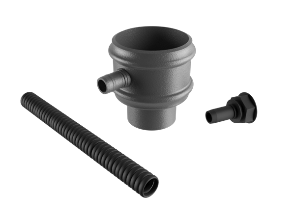 """2.5"""" Round Rainwater Diverter Kit Without Ears"""