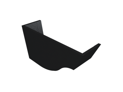 """5"""" Vict Ogee Gutter Int Stopend - L/H - Black"""