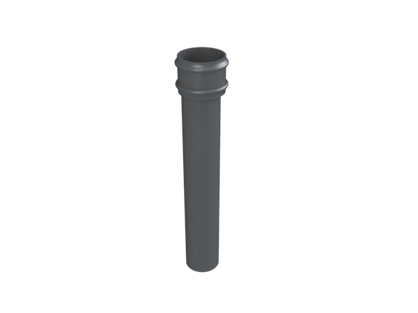 """2.5"""" Round Rainwater Pipe x 2FT Without Ears"""