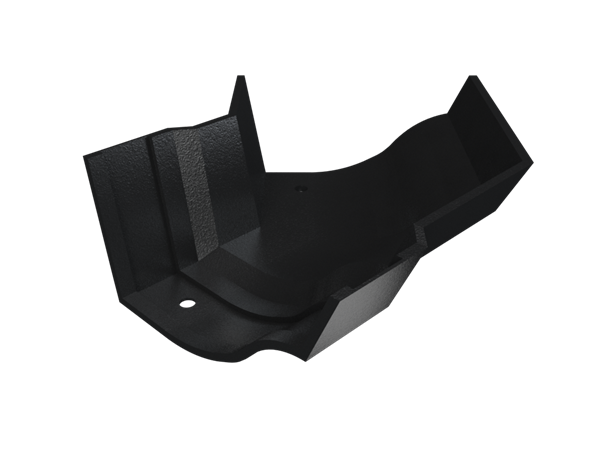 """4.5"""" Vict Ogee Gutter Ext 135° Angle - Black"""