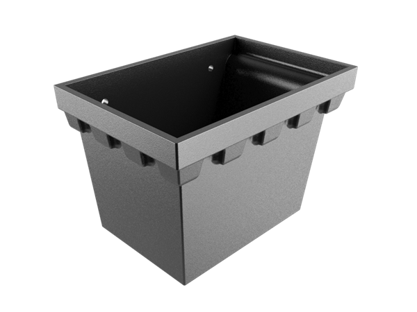 """No.4 Castellated Rainwater Head 2.5"""" Outlet - Black"""