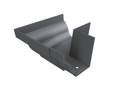 """6""""x4"""" Moulded Ogee Gutter Ext 90° Angle"""