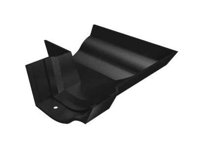 """5"""" Vict Ogee Gutter Ext 90° Angle - Black"""
