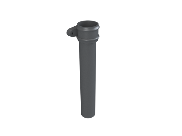 """2.5"""" Round Rainwater Pipe x 4FT With Ears"""