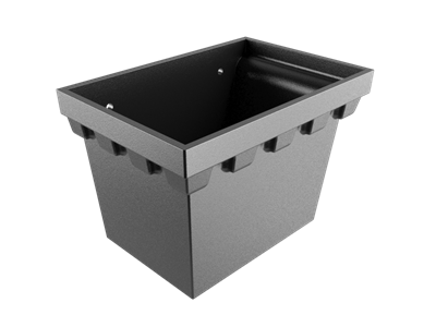 """No.4 Castellated Rainwater Head 4"""" Outlet - Black"""